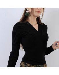 Дамска блуза в черно - код 6455