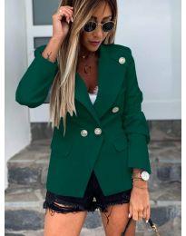 Сако с копчета в цвят зелено - код 2911
