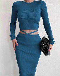 Ефектен дамски сет в синьо - код 0683