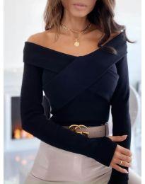 Екстравагантна дамска блуза в черно - код 0308