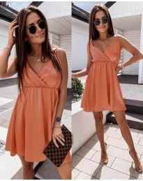 Елегантна рокля в оранжево - код 1000