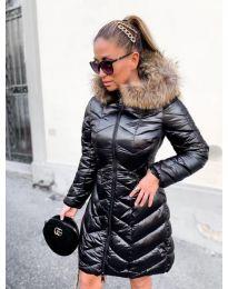 Дълго дамско зимно яке в черно - код 833