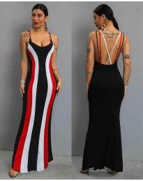 Дълга рокля  в цвят черно - код 1616