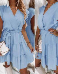 Дамска рокля в светлосиньо - код 2345