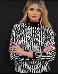 Дамска блуза с ефектен десен - код 378 - 2