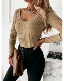Елегантна дамска блуза в бежово - код 4121