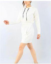 Спортна рокля в бяло - код 7315
