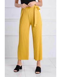 Ефирен панталон в жълто - код 4512