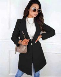 Дамско палто в черно - код 4704