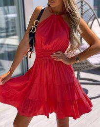 Дамска рокля в червено - код 9949