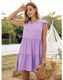 Свободна дамска рокля в лилаво - код 696