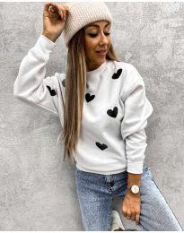 Дамска блуза с ефектен десен - код 3280 - 7