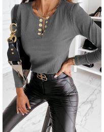 Дамска блуза в сиво - код 4175