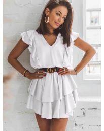 Феерична рокля в бяло - код 7173