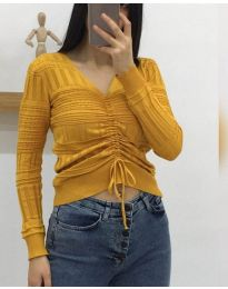 Дамска блуза в цвят горчица - код 385
