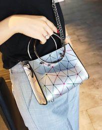 Ефектна дамска чанта в светлосиво - код B315