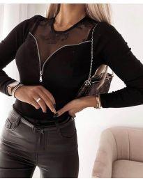Елегантна дамска блуза в черно - код 8782