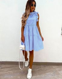 Феерична рокля в светлосиньо - код 2663
