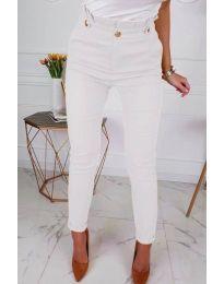 Дамски елегантен панталон в бяло - код 964