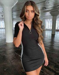 Спортна рокля в черно - код 2912