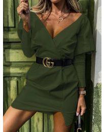 Стилна рокля в зелено - код 1617