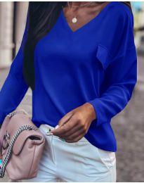 Дамска блуза в тъмно синьо - код 0802
