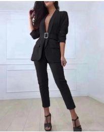 Комплект от сако и панталон в черно - код 813