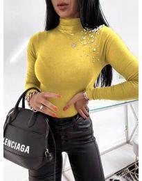 Елегантно дамско поло в жълто - код 2552