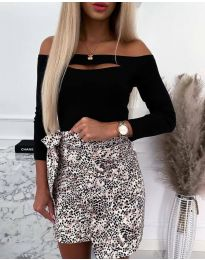 Екстравагантна дамска блуза в черно - код 4205