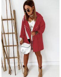 Свободно дамско яке в червено - код 8686