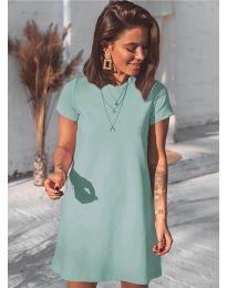 Изчистена рокля в зелено - код 2299