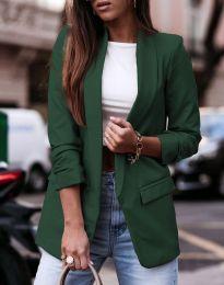 Дамско сако в зелено - код 9648