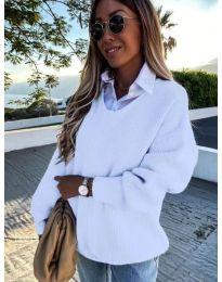 Дамски пуловер в бяло - код 0190