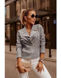 Дамско късо яке в сиво - код 794