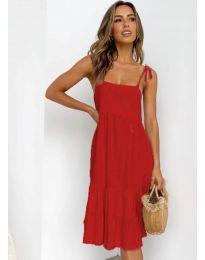 Дамска рокля в червено - код 630