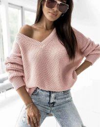 Дамски пуловер в цвят пудра - код 0283
