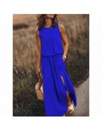 Дълга рокля в синьо - код 640
