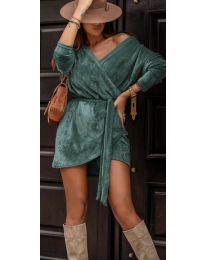 Дамска рокля в цвят тюркоаз - код 238