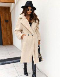 Дамско палто в бежово - код 8302