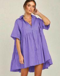 Свободна рокля в лилаво - код 6464