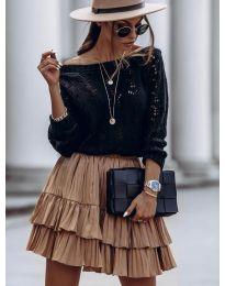 Дамски пуловер  в черно - код 5966