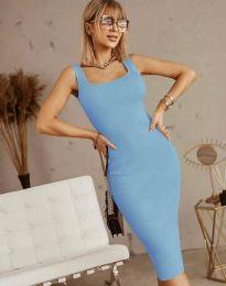 Изчистена рокля в светлосиньо - код 5965