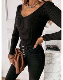 Елегантна дамска блуза в черно - код 4121