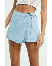 Пола тип панталон в светлосиньо - код 4009