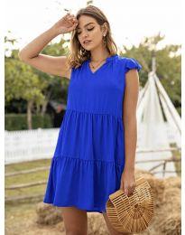 Свободна дамска рокля в синьо - код 696