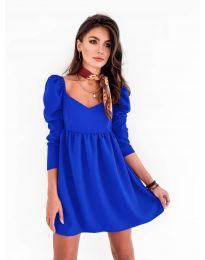 Елегантна рокля в синьо - код 390