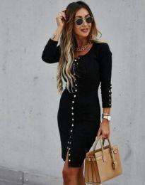 Атрактивна дамска рокля в черно - код 5822