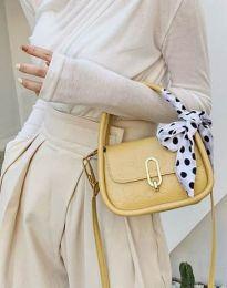 Дамска чанта в цвят горчица - код B437