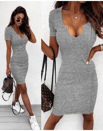 Изчистена рокля в сиво - код 8829