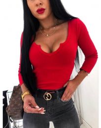 Изчистена дамска блуза в червено - код 875